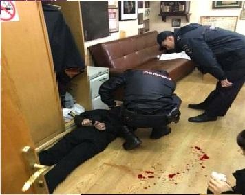 راست نشریات کے دوران روسی خاتون میزبان پر چاقو سے حملہ