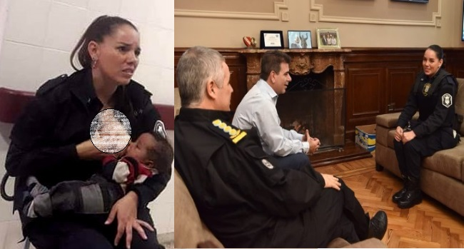 بھوک سے بے حال بچے کو خاتون پولیس افسر نے بچے کی بھوک مٹائی، پھر ملی یہ خوشخبری