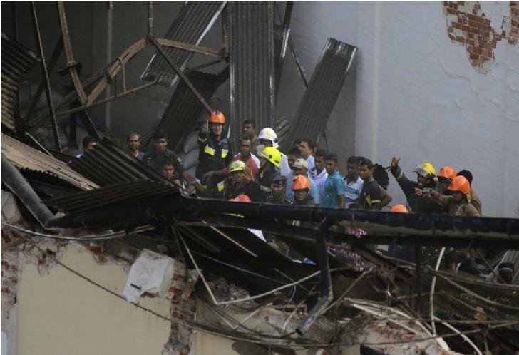 سری لنکا میں عمارت گری ، 7 افراد ہلاک