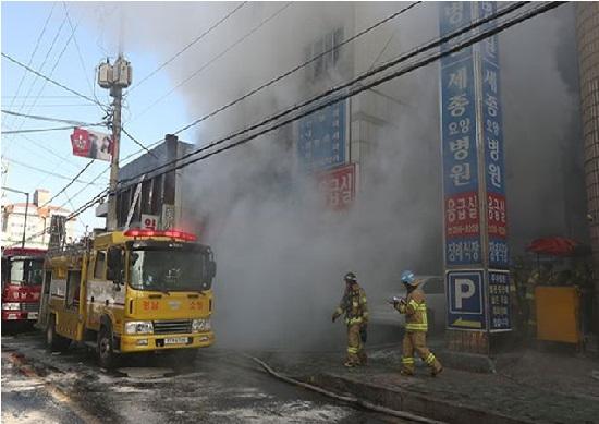 جنوبی کوریا کے ہسپتال میں آتشزدگی، 41 افراد ہلاک