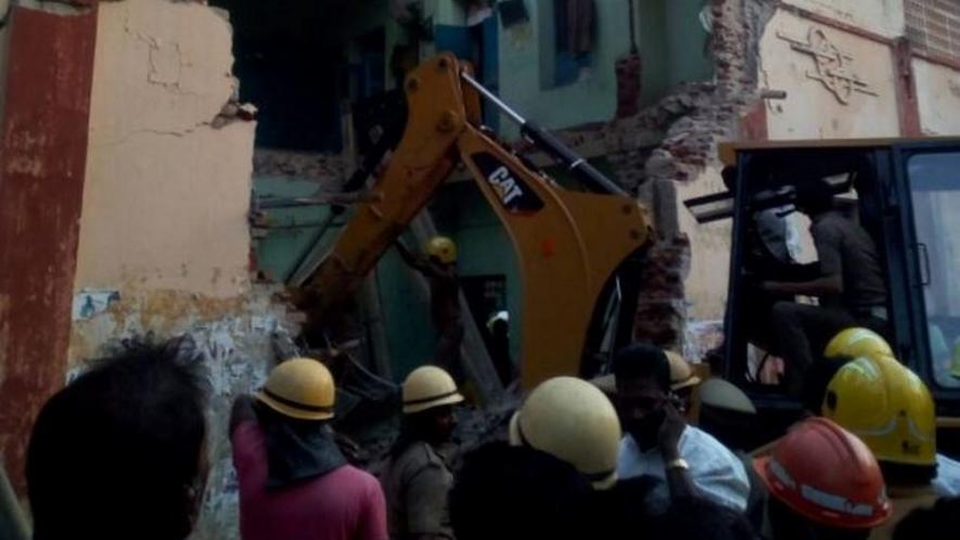 تمل ناڈو: بس ڈپو کی بلڈنگ گرنے سے 8 افراد کی موت