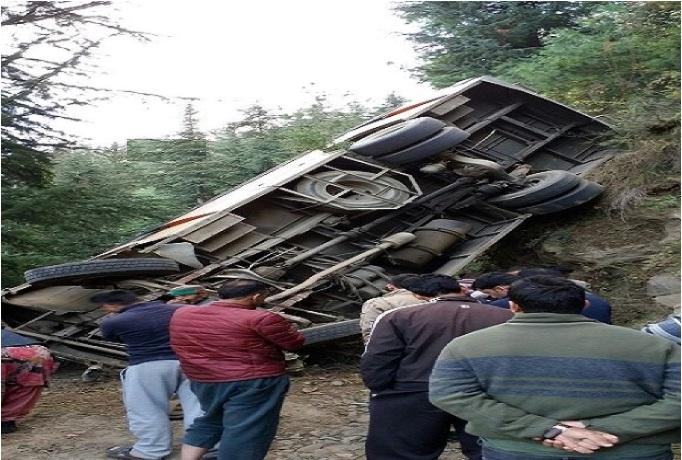 ہماچل پردیش: کھائی میں گری بس' 2 افراد ہلاک، 10 زخمی