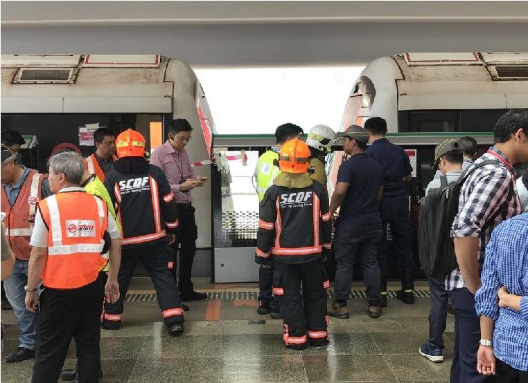 سنگاپور میں ٹرینوں کا تصادم، 25 افراد زخمی