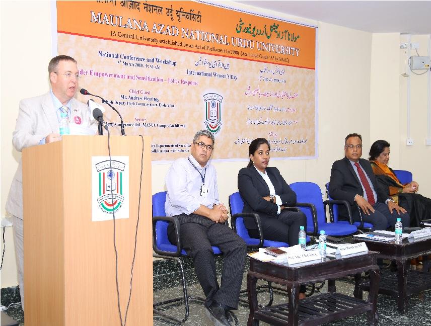 برٹش ڈپٹی ہائی کمشنر اینڈیو فلیمنگ کا اردو یونیورسٹی میں قومی کانفرنس سے خطاب