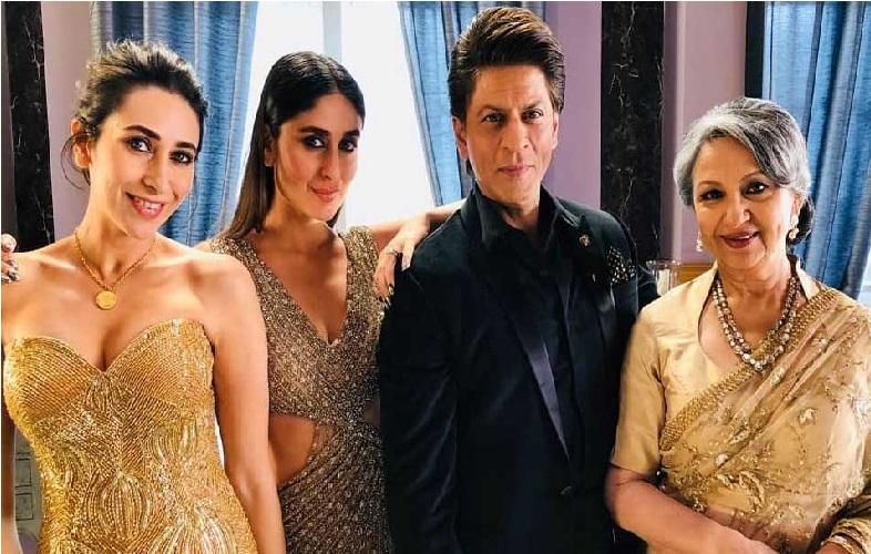 ساس شرمیلا ٹیگور، بہن کرشمہ اور شاہ رخ خان کے ساتھ کچھ یوں نظر آئیں کرینہ کپور