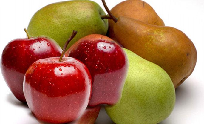 ناشپاتی اور سیب سے فالج کا خطرہ کم