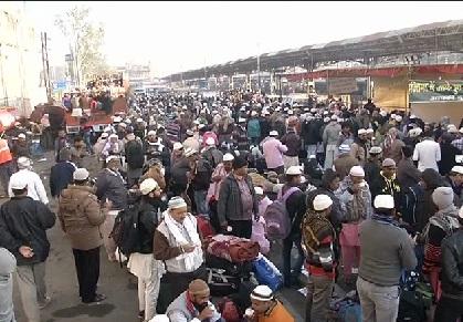 بھوپال میں سہ روزہ عالمی تبلیغی اجتماع کا دوسرا دن :لاکھوں لوگوں کی آمد
