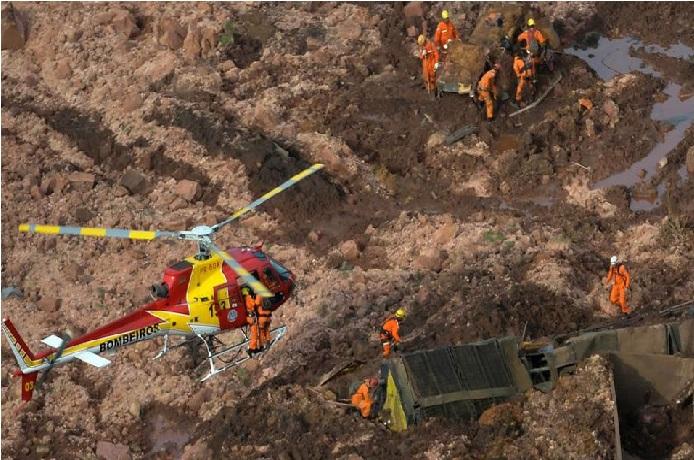 برازیل میں ڈیم ٹوٹنے سے مرنے والوں کی تعداد 40 ہوئی، 300 لوگ لاپتہ