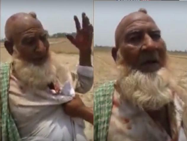 ہاپوڑ گئو کشی: متاثرہ سمیع الدین سے پوچھ گچھ کا ویڈیو وائرل