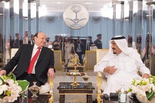 جدہ میں یمنی صدر کی شاہ سلمان سے ملاقات