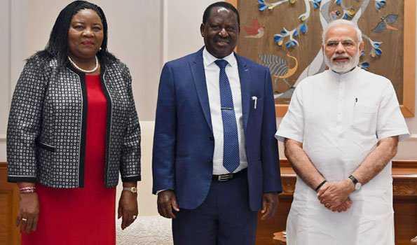 مودی سے کینیا کے سابق وزیر اعظم اوڈنگا کی ملاقات
