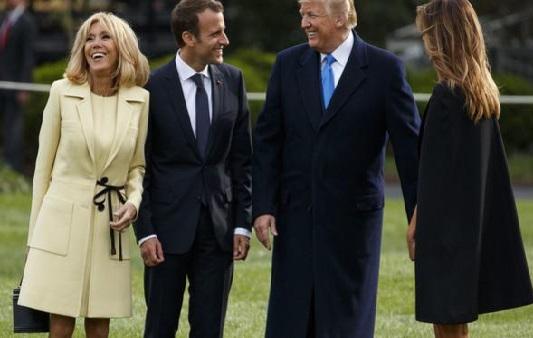 فرانسیسی صدر کا امریکہ میں شاندار استقبال