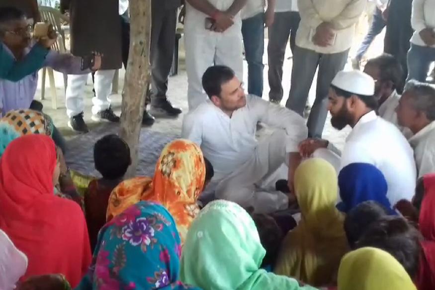 راہل گاندھی کا امیٹھی کے مدرسے میں لنچ