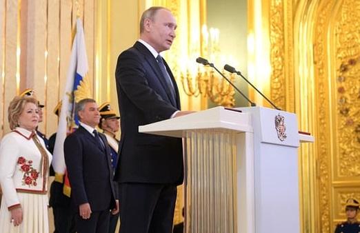 چوتھی مدتِ صدارت کے لیے ولادی میر پوتین نے لی حلف برداری