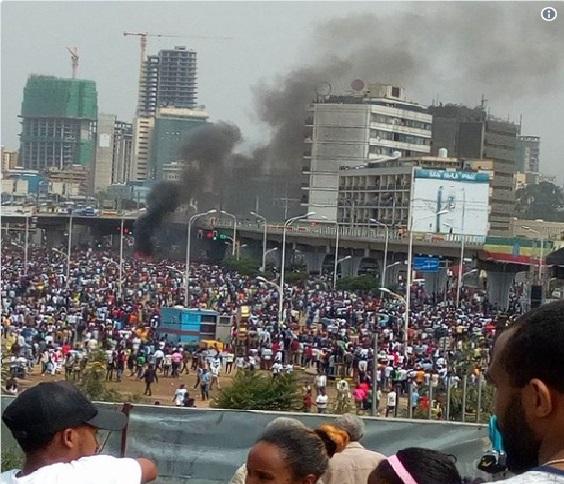 اتھوپیا میں وزیر اعظم کی ریلی میں دھماکہ