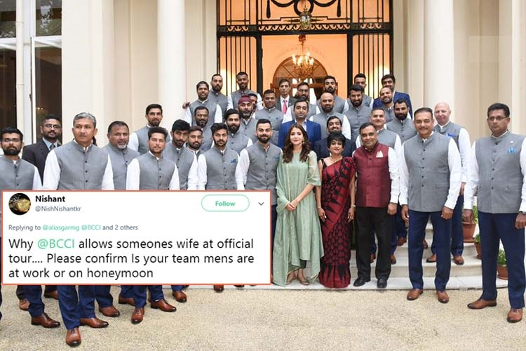 انڈین کرکٹ ٹیم لندن میں واقع ہندوستانی ہائی کمیشن پہنچی،یہاں پر انوشکا شرما کا کیا کام