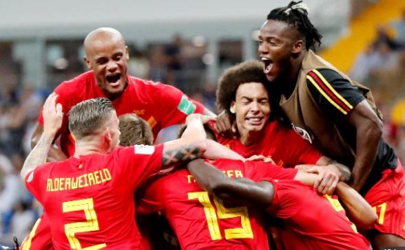 فٹ بال عالمی کپ، بیلجیم اور برازیل اگلے مرحلے میں