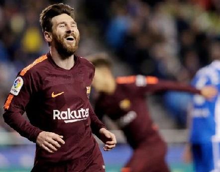 لیونل میسی کی ہیٹ ٹرک کی بدولت بارسلونا کی جیت