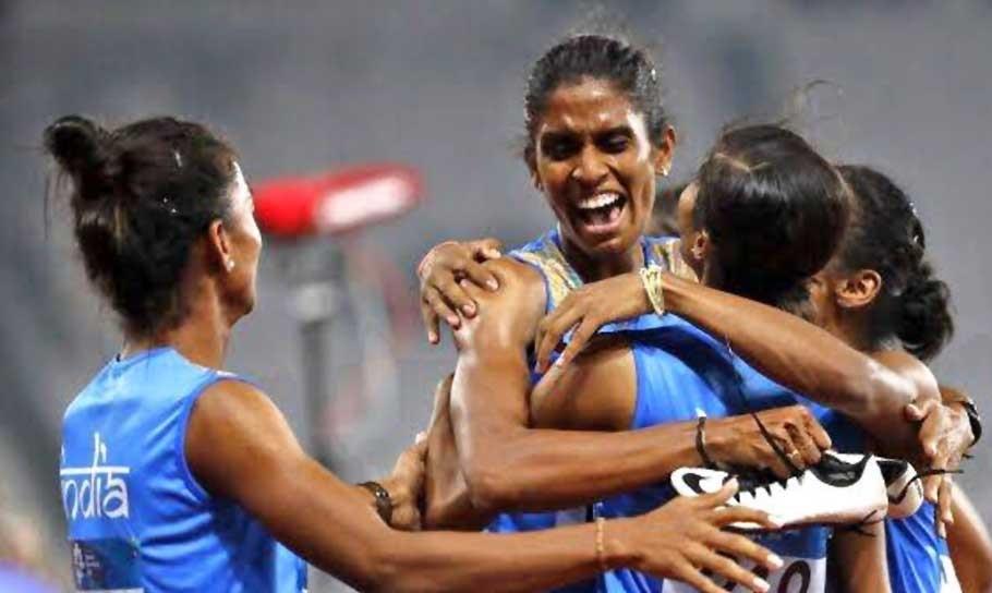 ایشن گیمز: ہندوستان کی خاتون ریلے ٹیم نے جیتا گولڈ