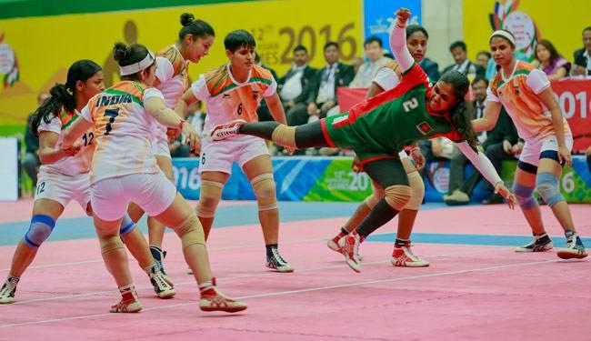 ساوتھ ایشین گیمس کھیلوں میں انڈیا کبڈی ٹیم نے جیتا گولڈ میڈل