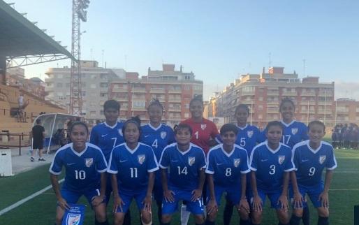 ہندستانی خاتون فٹ بال ٹیم نے الجزیراکو 3۔1 سے شکست دی