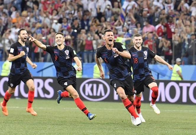 فیفا ورلڈ کپ: روس اور کروشیا کوارٹر فائنلز میں پہنچ گئے