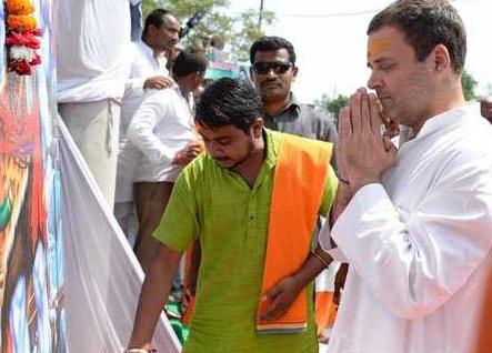 امیٹھی میں راہل گاندھی کا شاندار استقبال