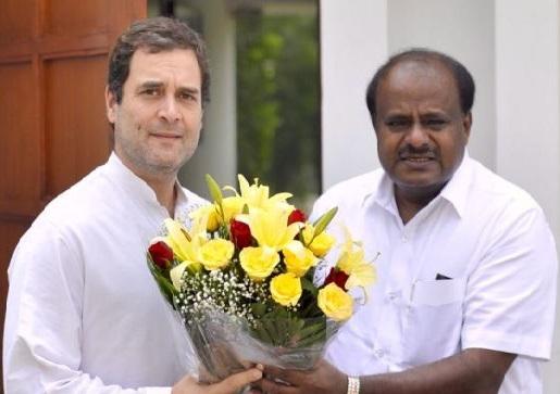 کمار سوامی کی دہلی میں راہل گاندھی کی ملاقات