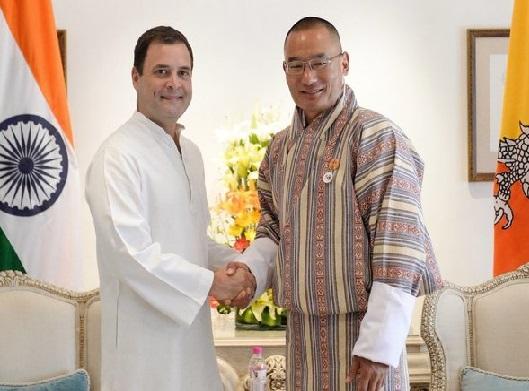 راہل گاندھی سے بھوٹان کے وزیر اعظم کی ملاقات