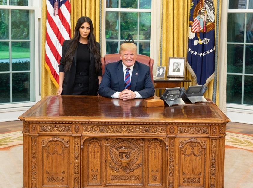 ہالی ووڈ اسٹار کم کاردیشن سے ہوئی ٹرمپ کی ملاقات