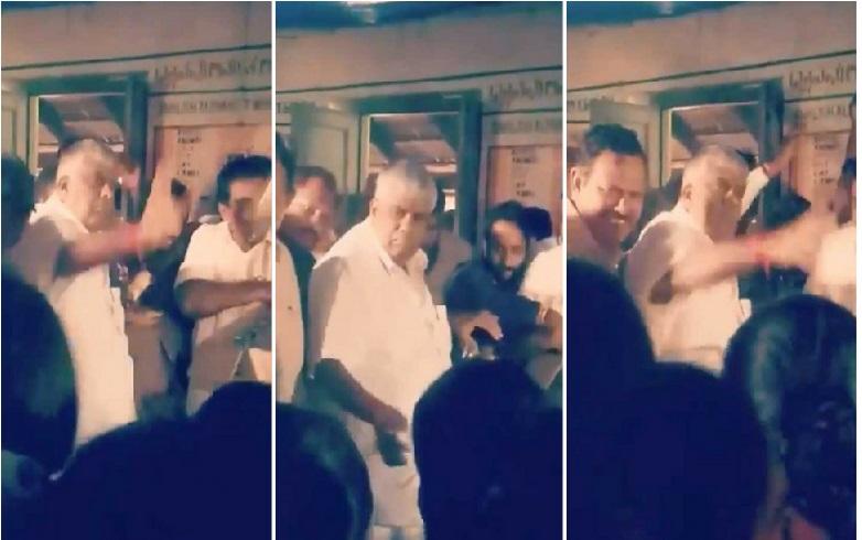 کرناٹک کے وزیر نے سیلاب متاثرین کو پھینک کر دیا کھانا، لوگوں نے چھونے سے کیا انکار