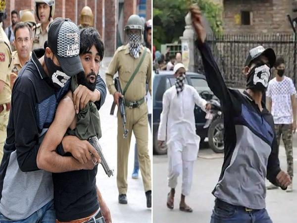 اصلی مجرموں کو پکڑنے کے لئے پتھر بازوں کے درمیان پہنچی پولیس