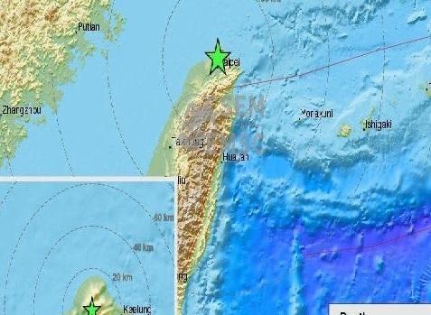تائیوان میں زلزلہ کے جھٹکے