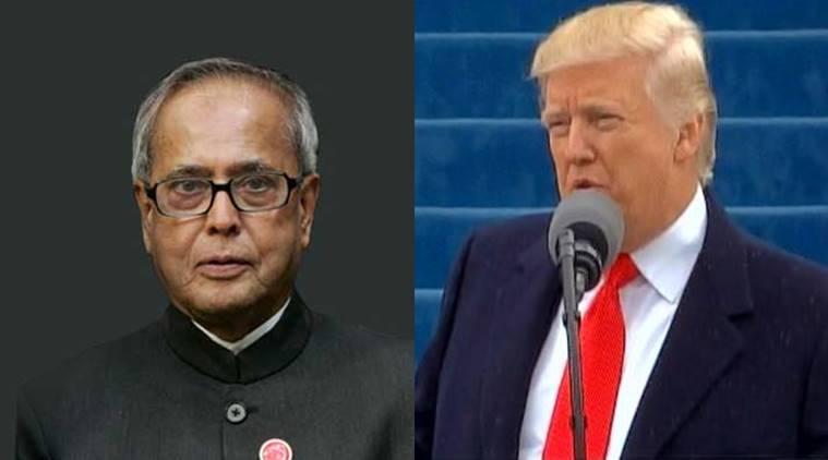 پرنب نے امریکی صدر کا عہدہ سنبھالنے پر ٹرمپ کو مبارکباد دی