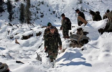 کپواڑہ اور باندی پورہ میں تودہ گرنے سے پانچ فوجی جوان لاپتہ