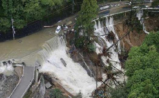 شدید بارش سے جاپان میں 130 افراد کی موت