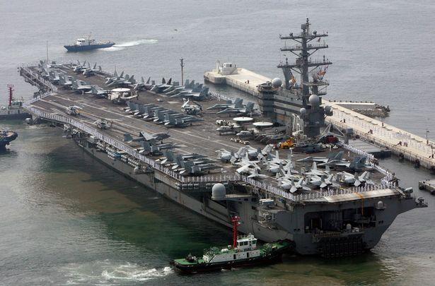 امریکہ ،جنوبی کوریا کی بحریہ کا مشترکہ مشق