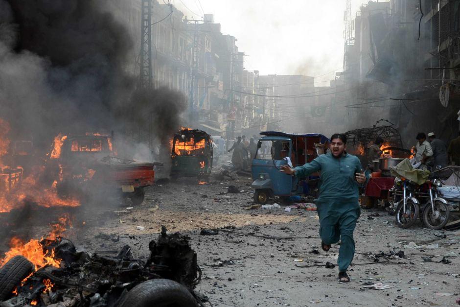 پاکستان کے ایک سبزی بازار میں دھماکہ:21 افراد ہلاک، 40 زخمی