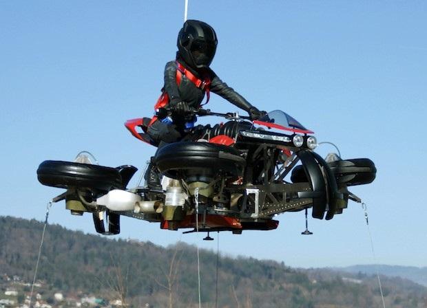 یہ ہے اڑنے والی موٹر سائیکل، ہوا میں پہنچنے کے لئے لیتی ہے 60 سیکنڈ کا وقت