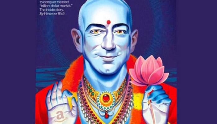 فرچیون نے ایمیزون CEO کو وشنو کے طور پر دکھایا، ہندوؤں نے کی مخالفت