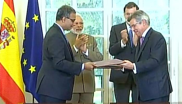 ہندوستان اور سپین نے سات معاہدوں پر کئے دستخط