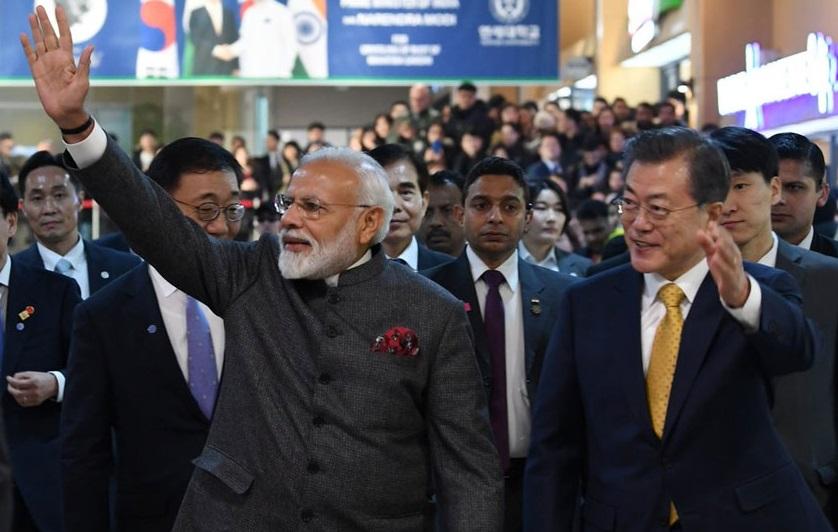 کوریا میں مودی نے کہا، ہندوستان جلد بنے گا 5000 بلین ڈالر کی معیشت