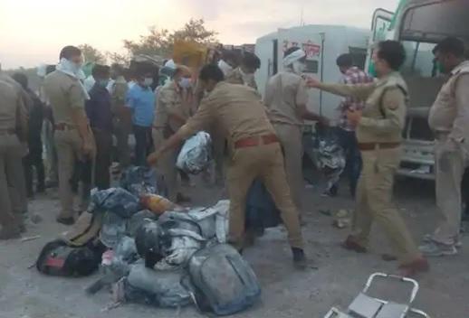 اوريا سڑک حادثہ میں 24 مہاجر مزدور ہلاک