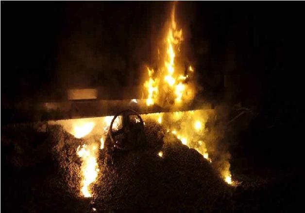 مہاراشٹر میں مال گاڑی کے ڈبے میں لگی آگ، 10 ٹرینیں منسوخ
