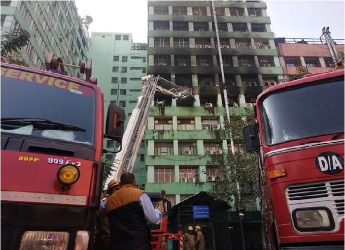 سی جی او کمپلکس میں آتشردگی میں سی آئی ایس ایف انسپکٹر کی موت