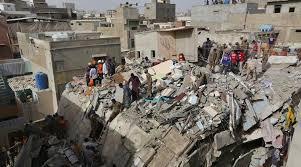 کراچی میں عمارت کے منہدم ہوجانے سے چار کی موت، 22 زخمی