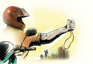 حیدرآباد:طلائی زیور چھیننے کی ناکام کوشش