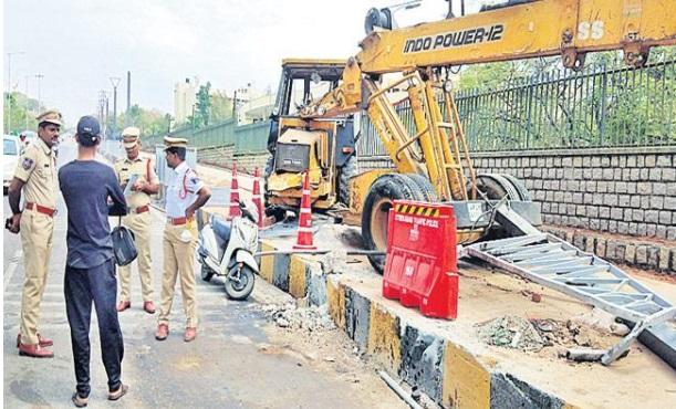 حیدرآباد میں دو کرینوں میں تصادم ، ایک آپریٹر ہلاک