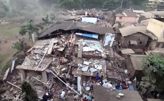 مہاراشٹر: رائے گڑھ ضلع میں 5 منزلہ عمارت گری، کئی زخمی