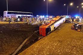 پولینڈ بس حادثے میں یوکرین کے چھ افراد کی موت ، 35 زخمی